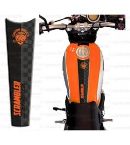 Motorrad Tankschutz orange für Ducati Scrambler