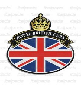 Scudetto sticker Union Jack Royal British flag bandiera inglese Range Rover