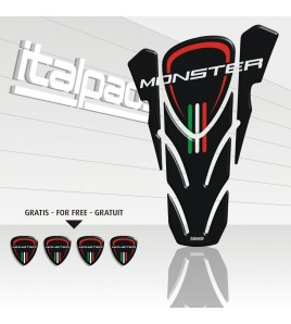 "Paraserbatoio DUCATI Corse monster nero ""top wings"" black TANK PAD + 4 free"