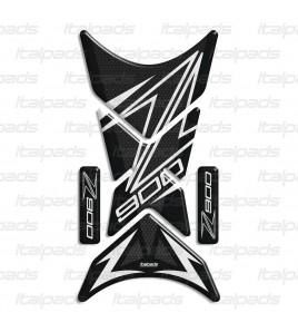 """Motorrad Tankschutz mod. """"Shark"""" für Kawasaki Z900, Wabe/weiß"""