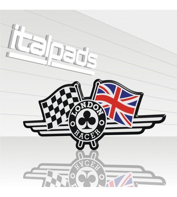 3d Gel Aufkleber London Racer Flag Union Jack Triumph
