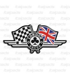 Adesivo in resina London Racer bandiera inglese Triumph