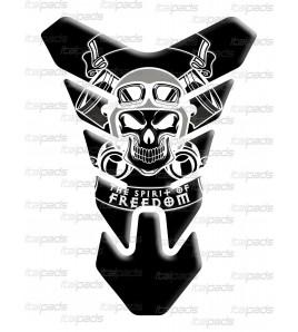 """Motorrad Tankschutz Skull Totenkopf  """"Nevada"""" schwarz"""