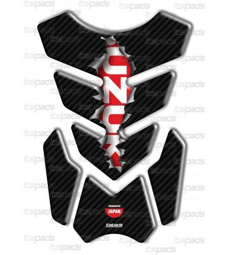 """Motorrad Tankschutz Mod. """"3Wings Rip"""" für Suzuki Carbon/rot"""