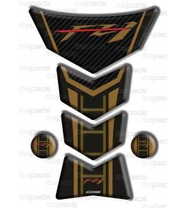 """Motorrad Tankschutz für Yamaha FZ1 Gold-Carbon """"Frames/S"""""""