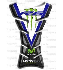 "Motorrad Tankschutz ""Classic Sport"" bleu carbon look für Yamaha R6"