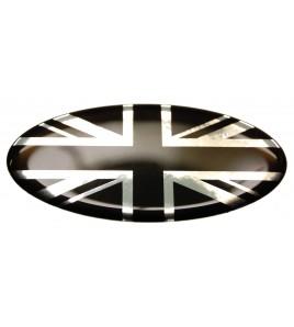 Adesivo bandiera inglese Range Rover OVAL 100% nero su base cromata