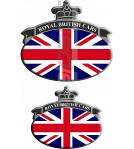 Kit n. 2 Stickers Union Jack bandiera inglese Range Rover Nero/Grigio