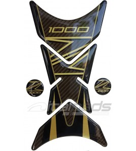 """Paraserbatoio mod. """"Shark"""" per kawasaki Z1000 oro-carbon look"""