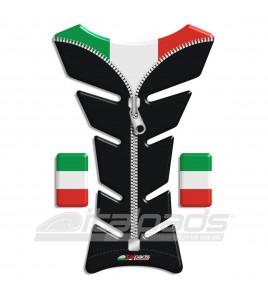 "Paraserbatoio bandiera Italia Italiana nero ZIP ""Classic""+2"
