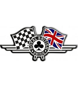 Adesivo in resina Royal British Pride bandiera inglese Triumph