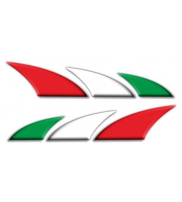 set 2 dekorative aufkleber italien italienische flagge f252r